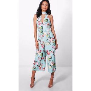 NWT BooHoo Floral Jumpsuit